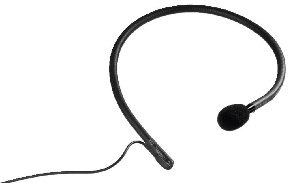 Monacor Schweiz AG - Nackenbügelmikrofon, Niere, 150-16000 Hz: …